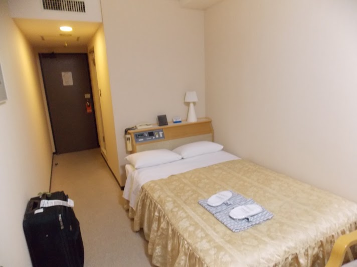 Another angle on our very small hotel room in Narita.
