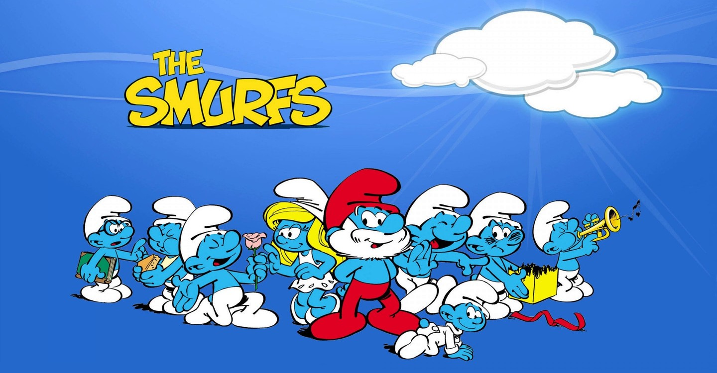 A picture of Smurfs