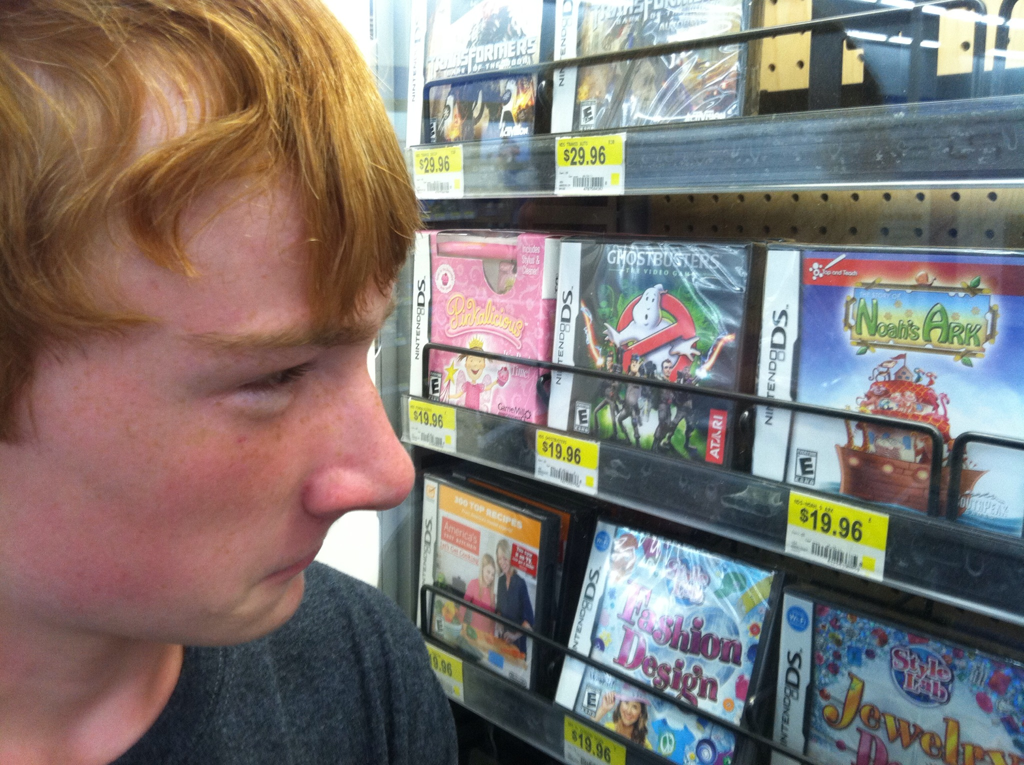 "Noah staring at ""Noah's Ark"" for Nintendo DS"